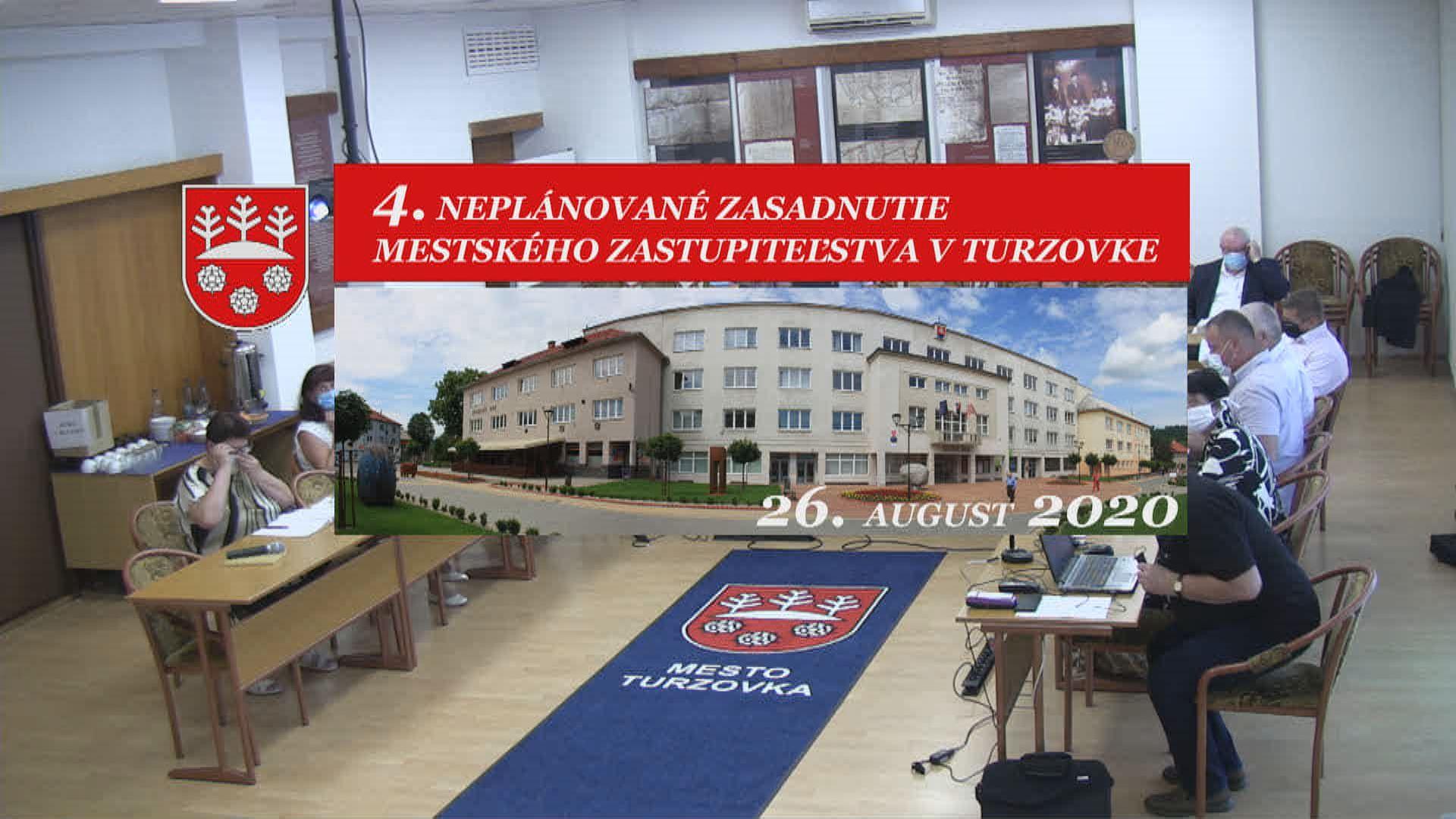 4. rokovanie MsZ v Turzovke 26. august 2020